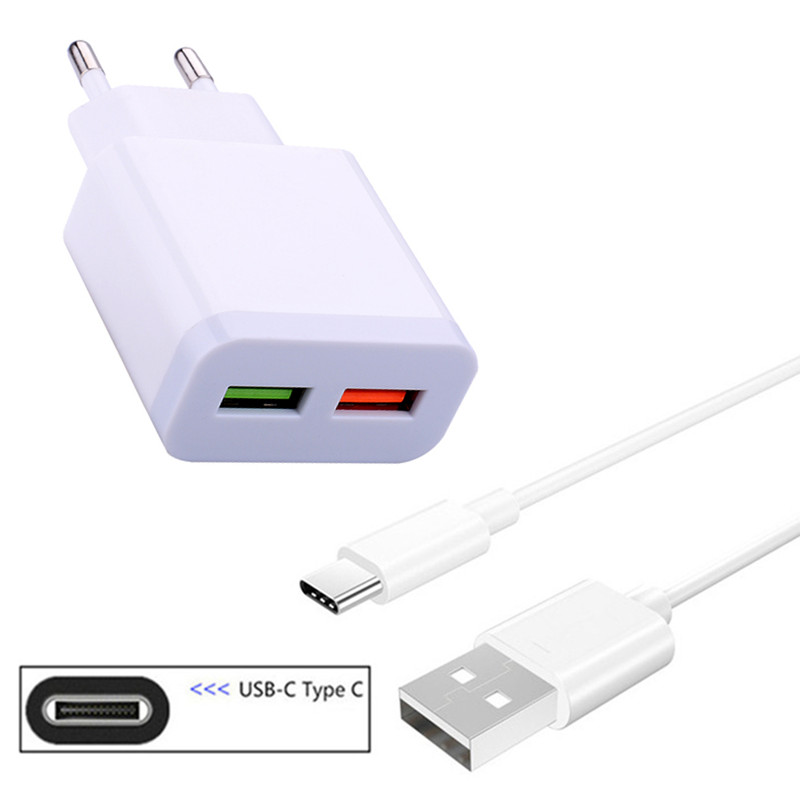Type C Charge Data Cable Wall USB <font><b>Charger</b></font> For <font><b>Nokia</b></font> 7.1 8 <font><b>8.1</b></font> Samsung Galaxy S10 M40 A20e A30 A70 Sony Xperia 10 XZ2 Premium XA1 image