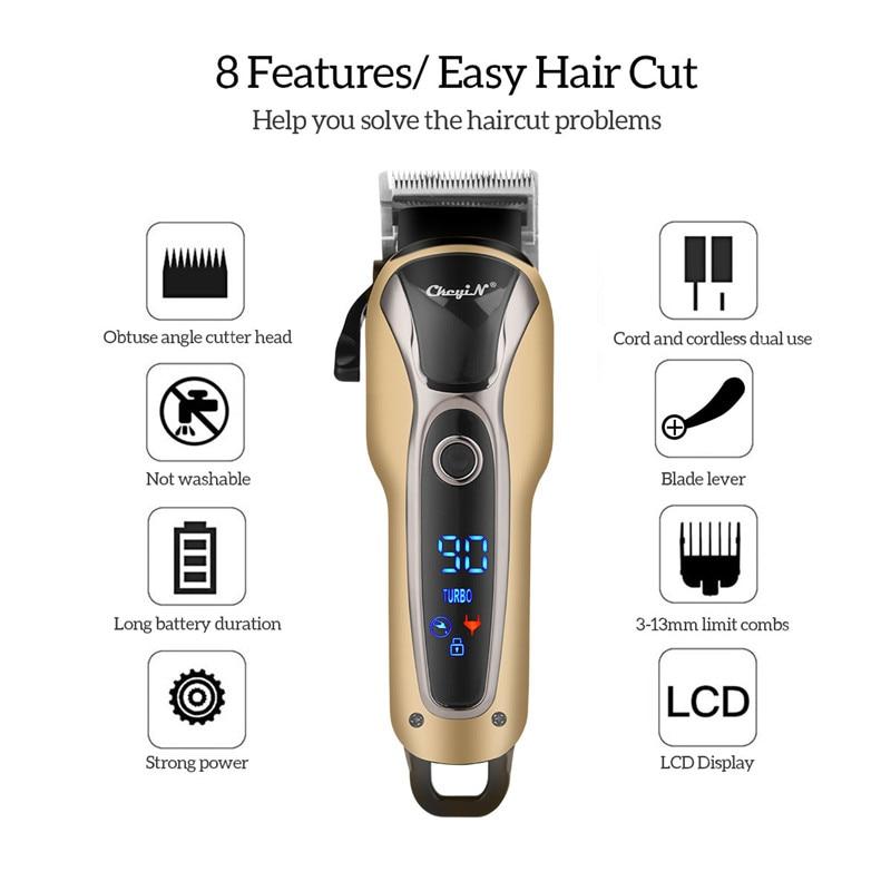 Lâmina de aço inoxidável recarregável corte cabelo