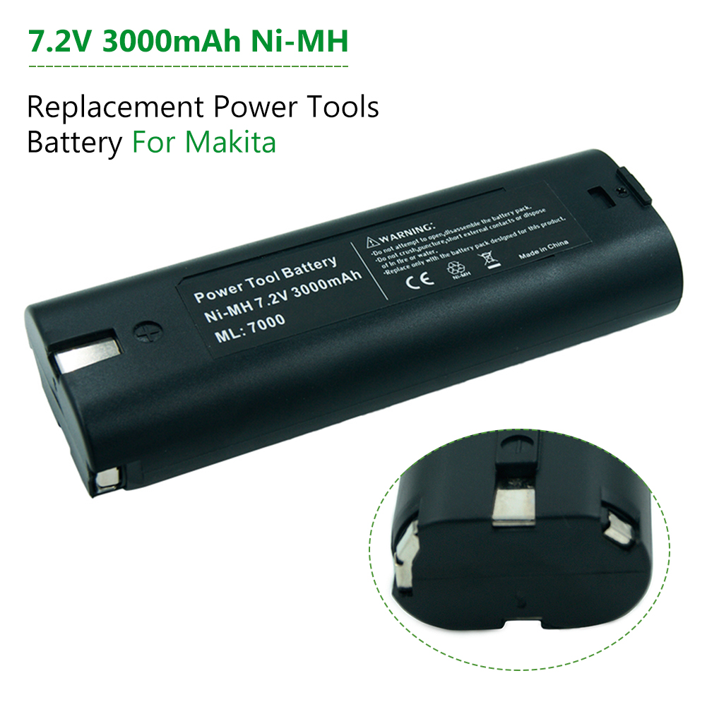 7.2v Ni-Mh 3000mAh Rechargeable Battery for Makita 7000 7002 7033 6002D 6010D 6018D 6019D 9200D Power Tools Battery