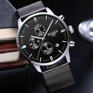 Image 4 - Мужские модные часы HAIQIN, роскошные/спортивные/военные/золотые/кварцевые наручные часы для мужчин