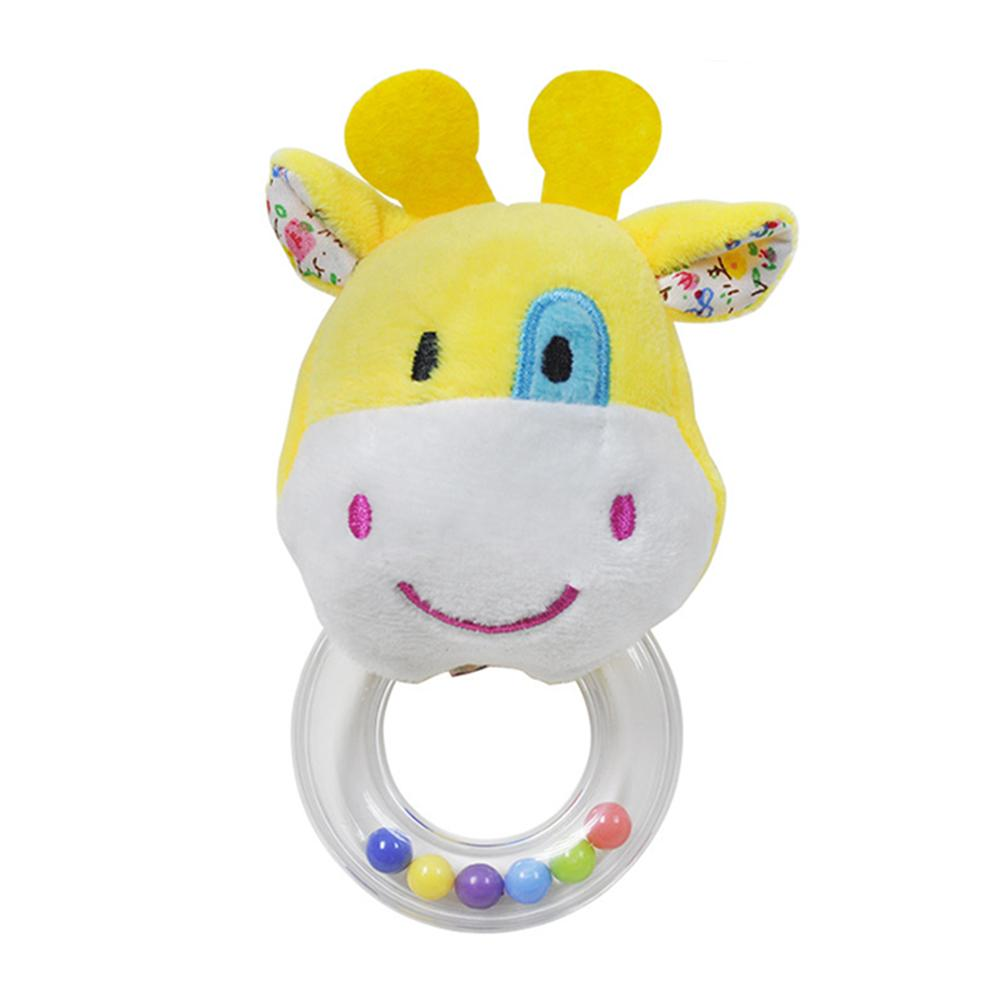 Baby Kids Rattle Toys Cartoon Animal Plush Hand Bell  Cute Rattle Plush Soft Skin-friendly Rattle Animal Toy For 0-3 Years