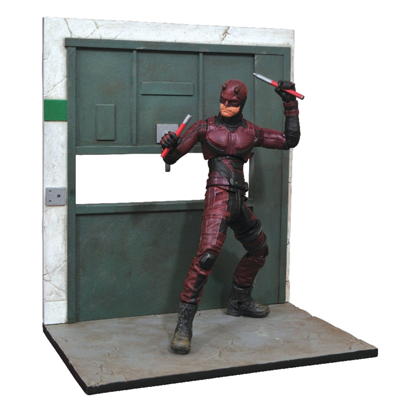 Art Museum Series Superhero Daredevil TV Drama Ver Statue Movable Action Figure Collection Model Toy Desktop Decoration X4524