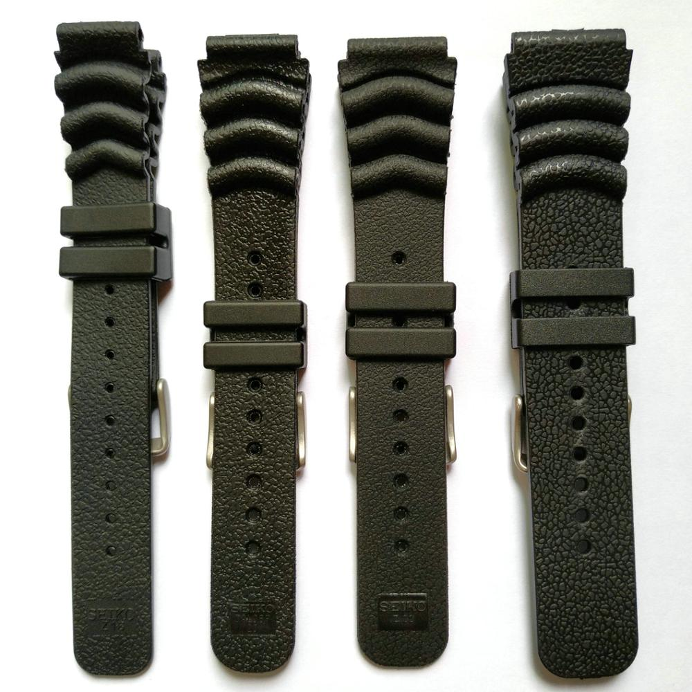 18mm 20mm 22mm 24mm Rubber PU Resin Watch Band Replacement Strap for Seiko Diver Scuba Durable Thick Sports Bracelet