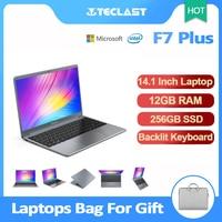 Teclast F7 Plus portátil de 14,1 pulgadas 12GB de RAM 256GB SSD FHD 1920x1080 Intel lago Géminis N4100 Windows 10 Teclado retroiluminado