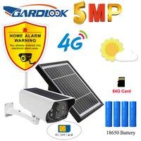 5MP telecamera 4G SIM telecamera di sorveglianza CCTV IP Card PIR HD solare esterno batteria impermeabile ricarica protezione di sicurezza Cloud