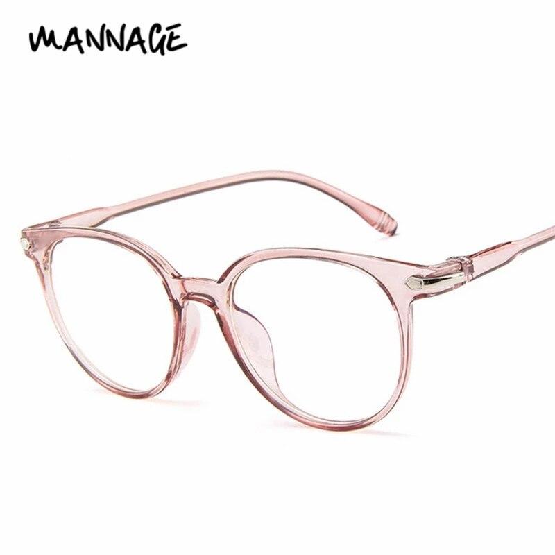 Women Men Glasses Frame Anti Blue Light Eyeglasses Fashion Vintage Clear Lens Optical Glasses Round Spectacle Frame