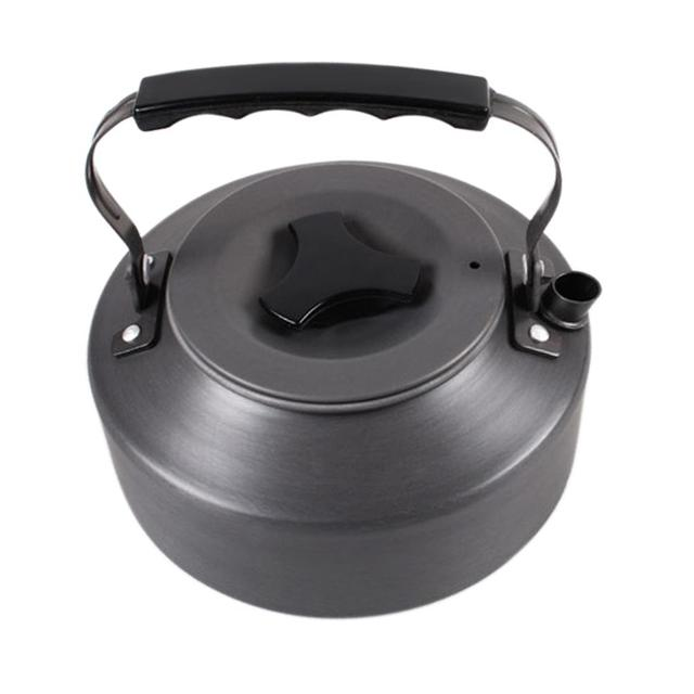 1.1L Outdoor Portable Camping Survival Coffee Pot Water Kettle Teapot Aluminum Travel Tableware Kitchen utensils 3