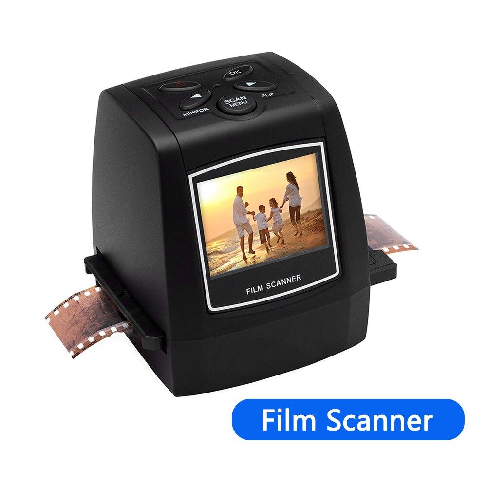 Мини-сканер для фотопленки, 5 Мп, 35 мм, с ЖК-экраном 2,4 дюйма