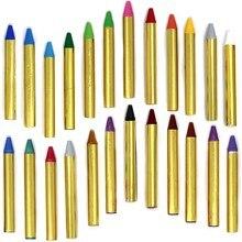 24 cores topcoat seguro não-tóxico rosto e corpo lápis final roupa de festa pode ser usado para a festa de aniversário maquiagem