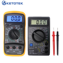 DT830B XL830L Mini Multimeter LCD Digital Multimetro Volt Amp Ohm Tester Meter Voltmeter Ammeter Overload Protection With Probe(China)