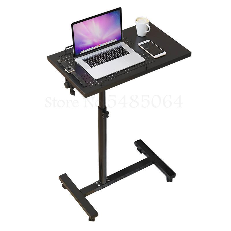 Стол для ноутбука можно приподнять и снизить, стол для домашнего кабинета, вращающийся стол, мобильный прикроватный столик, простой и совре...