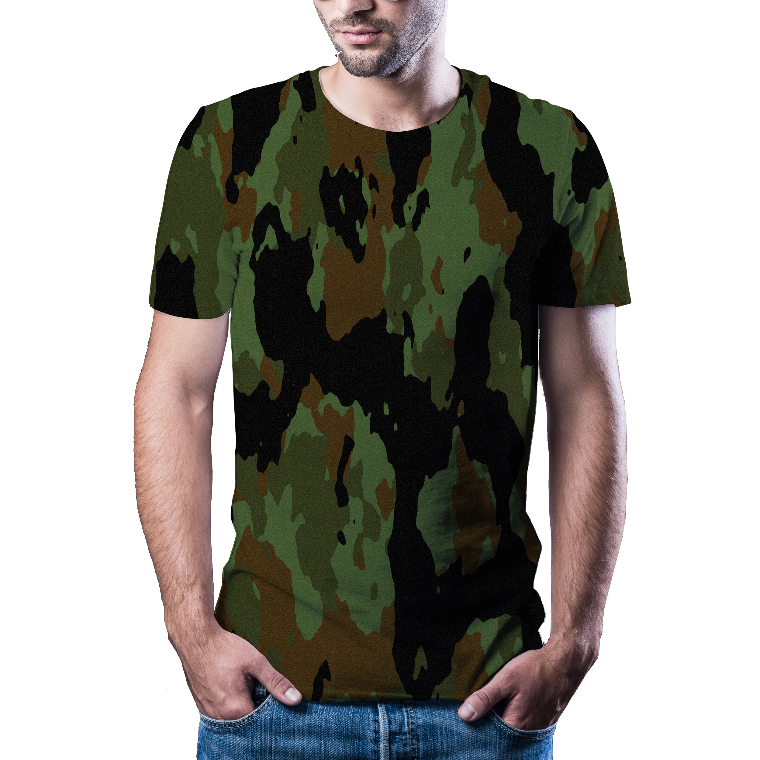 2020 new 3D t-shirt men's summer casual camouflage clothing camouflage style top 3D quick dry printed T-shirt