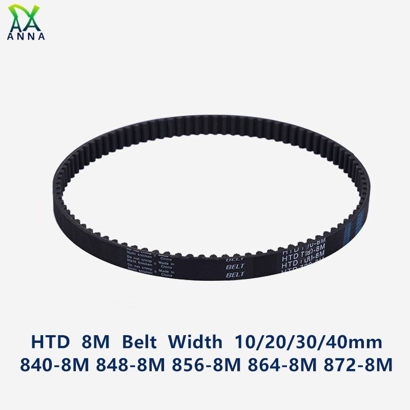 1000 to 1392 long 15 to 40mm Wide HTD 8M Timing Belt 8mm Pitch Select