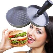 1 комплект круглый Форма пресс для формирования котлет Алюминий сплав 11 см мясо для гамбургеров гриль для говядины пресс для бургеров Пэтти чайник пресс-формы для приготовления пищи