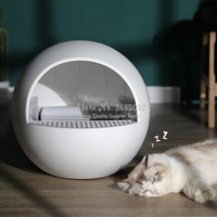 Автоматический закрытый туалет для котов коробка Большой самоочищающийся песок Туалет Обучение Cat Kit Inodoro Arenero Gato Cerrado Pet продукт