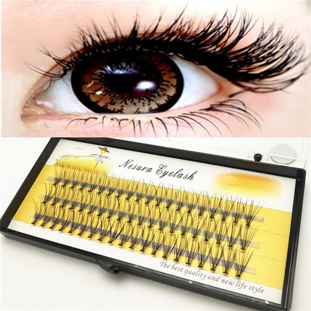 Fashion 60pcs Professional Makeup Individual Cluster Eye Lashes Grafting Fake False Eyelashes Free Shipping 1
