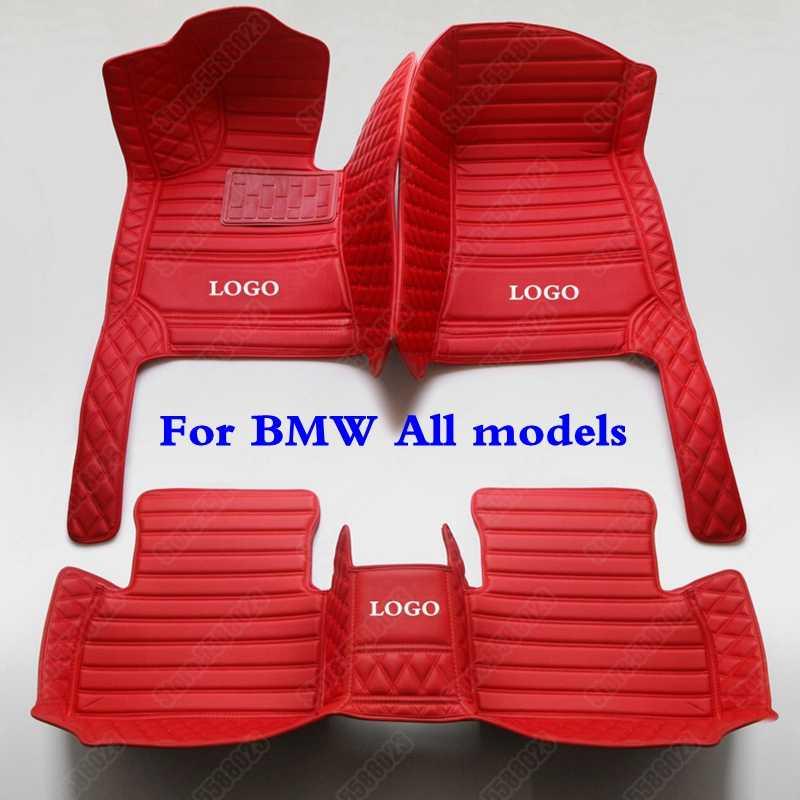 สภาพอากาศทั้งหมด3Dรถชั้นเท้าสำหรับBMWรุ่นX1 X2 X3 X4 X5 X6 X7 M 1 2 3 4 5 6 7 Series GTหนังAuto-Coverพรม