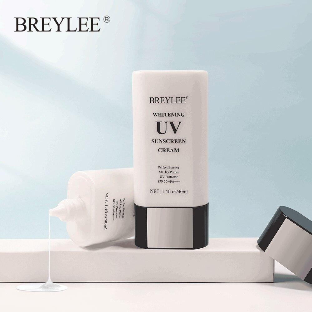 BREYLEE הלבנת UV קרם הגנה קרם SPF50 Sunblock רשות + + + לחות אנטי הזדקנות אבק שמן בקרת להפחית מלנין עור טיפול 40ml