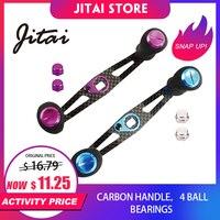JITAI 8*5MM 7*4MM DIY Carbon Fiber Fishing Reel Handle EVA Knob Baitcasting Reel Fishing Accessories Bait Casting Handle Screws Fishing Reels    -