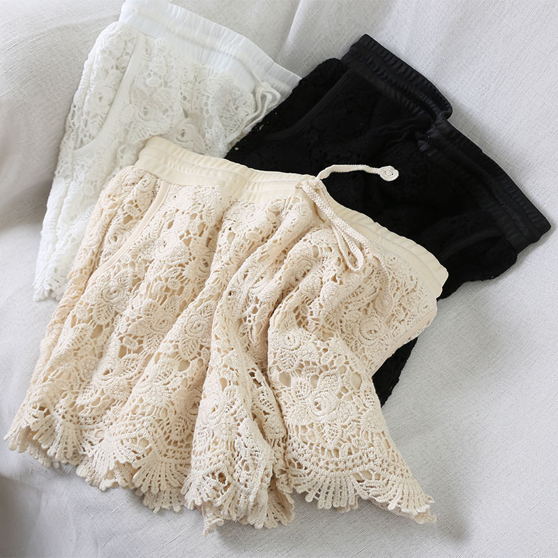HELIAR lace Shorts Women's shorts feminino body shorts for women anti-emptied elegant floral hollow out  panties Woman clothing 1