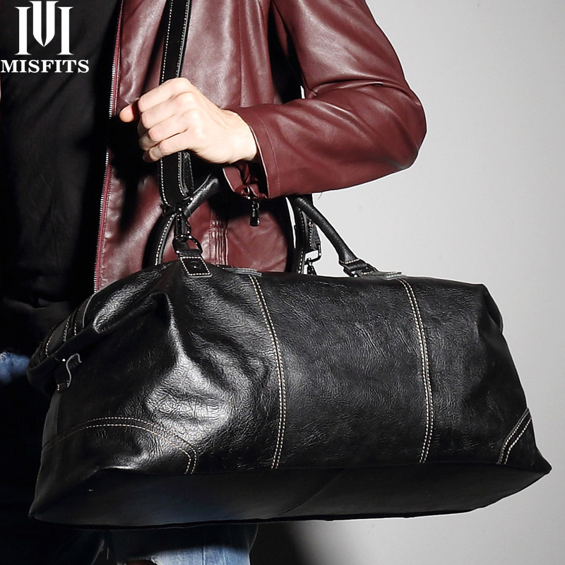 Cross Border Hot Sales Leather Travel Bag Men Hand Large-Volume Business Trip Luggage First Layer Cowhide Travel Bag