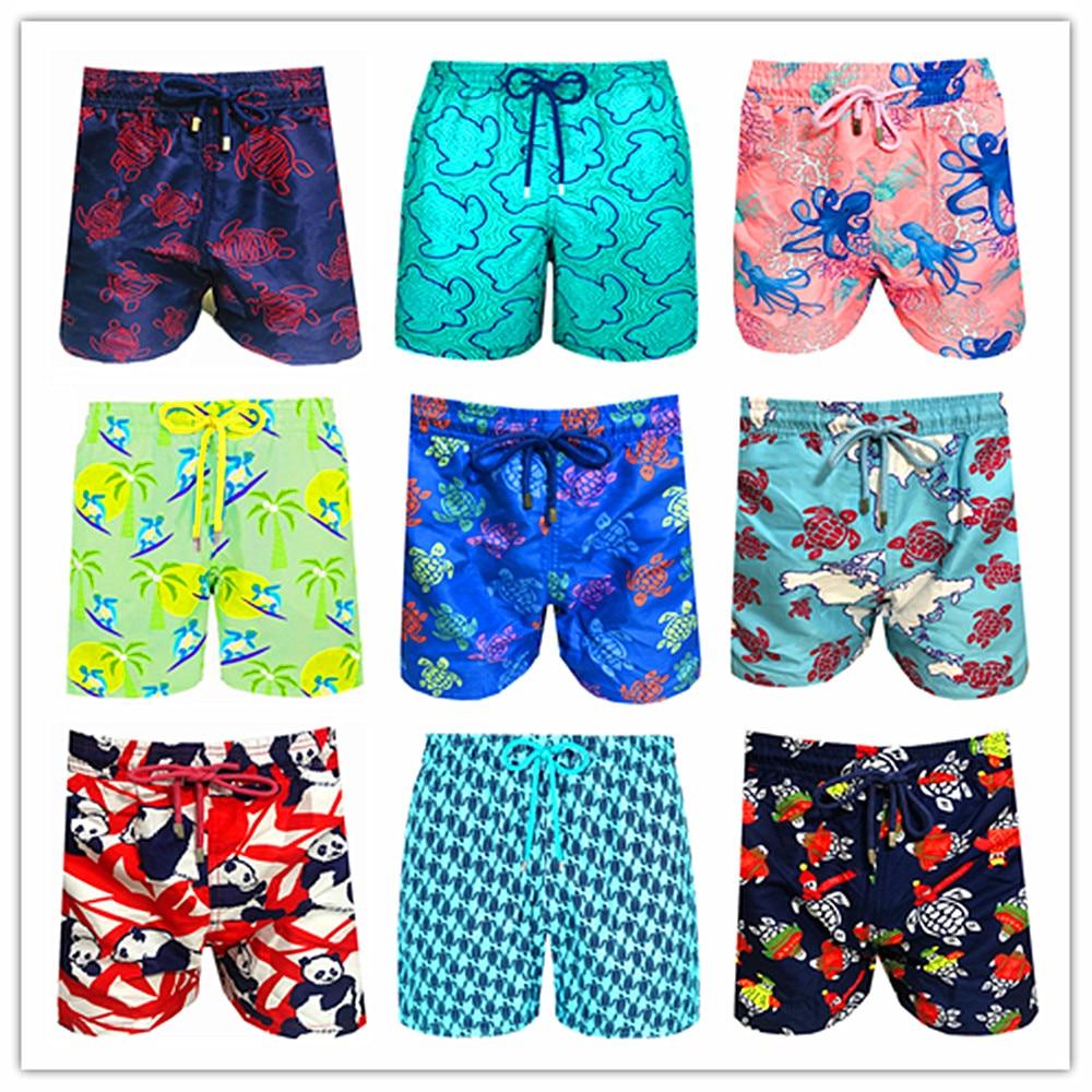 2020 Brand Brevile Pullquin Beach Board Shorts Men Turtles Swimwear Bermuda Sexy Adults Boardshorts 100% Quick Dry Panda Shorts