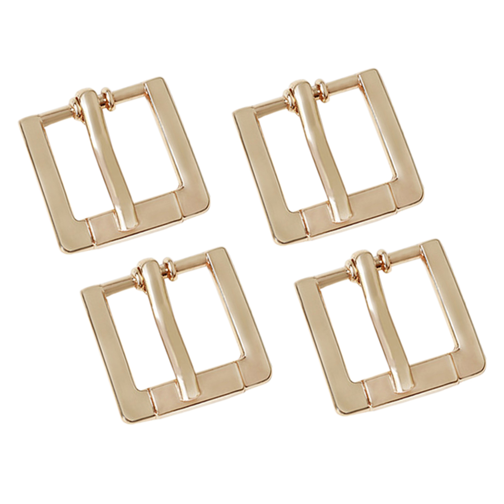 4 Pcs Metal Pin Buckle Belt For Women Leather Belt Spare Replacement