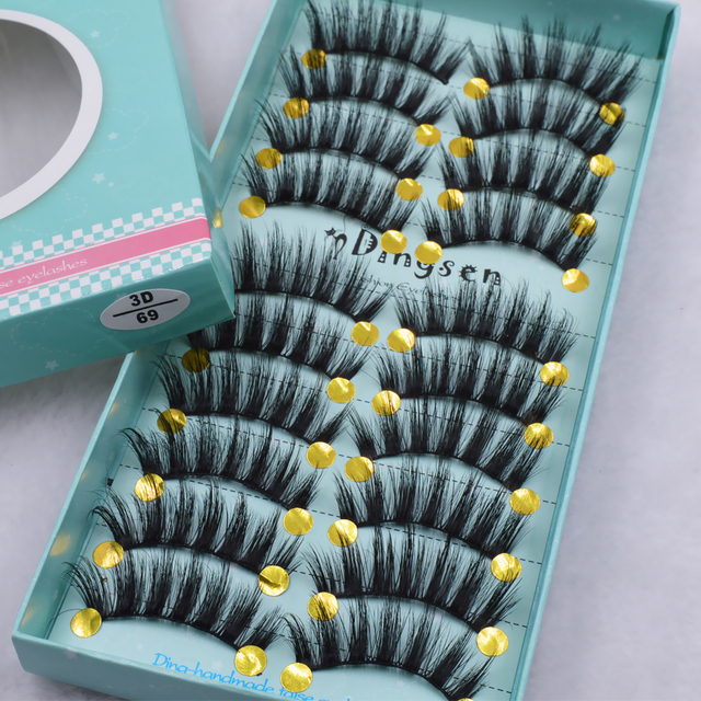 10 pairs natural false eyelashes fake lashes long makeup 3d mink lashes eyelash extension mink eyelashes for beauty 3D66-71 4