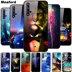 For Huawei Nova 5T Case Tempered Glass Cover 3D Cat Printing Case For Huawei Nova 5T 2019 5 T Phone Case For Huawei Nova5T Cover