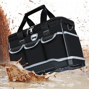 """Image 4 - أكياس أداة متعددة المهام حجم 13 """"16"""" 18 """"20"""" أكسفورد حقيبة ملابس أعلى واسعة الفم كهربائي مجموعة أدوات خاصة أكياس مجموعة أدوات مقاوم للماء"""