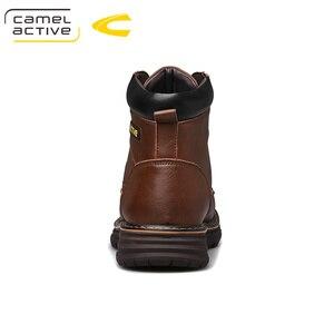 Image 2 - Deve aktif yeni sıcak marka erkek çizmeler hakiki deri kış sonbahar ayakkabı motosiklet Mens yarım çizmeler çift Oxfords ayakkabı