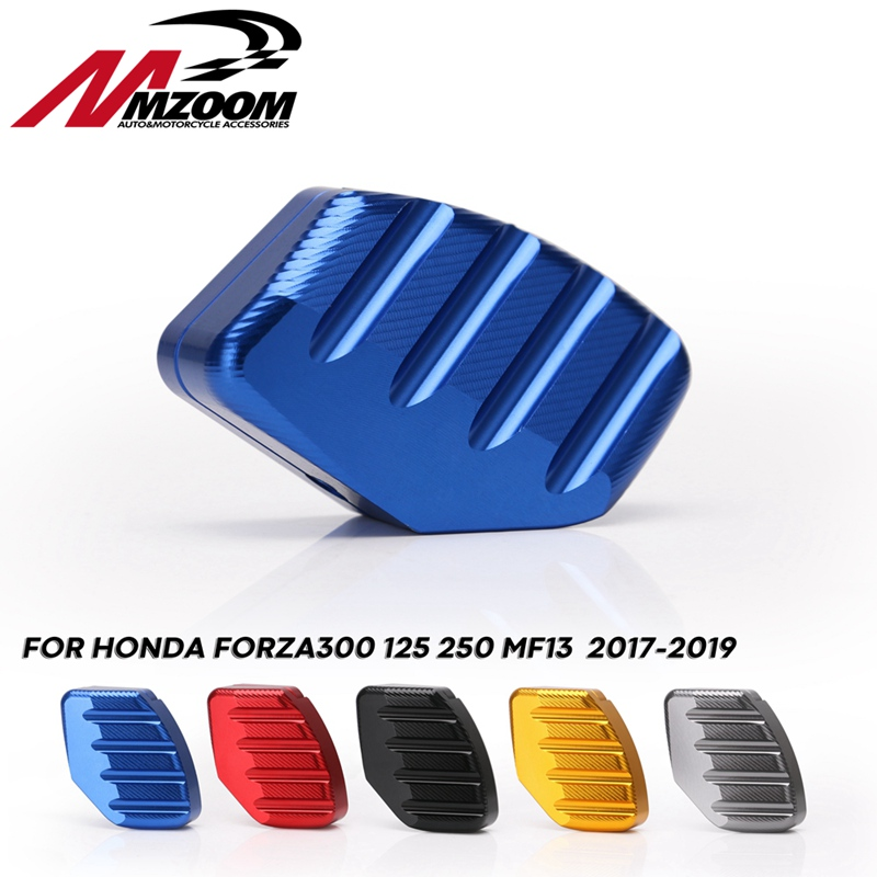 CNC Motorcycle FORZA 300 125 250 Kickstand Footrest Foot Side Stand Extension Pads Support Plate For Honda Forza300 125 250 MF13