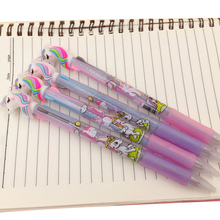 2pcs/lot HOTSALES Cute Cartoon 3 In 1 Multi Color Ballpoint Promotional Gift Stationery School Office Supply