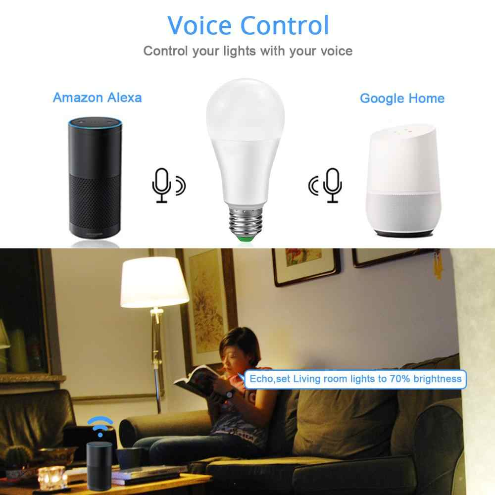 Wifi Rumah Bohlam/Bluetooth SMART Lampu/Remote Control Lampu Kompatibel Google Home Amazon Alexa Echo