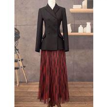 LouLan Queen Women's Fashion Office Runway Blazer Long Sleev