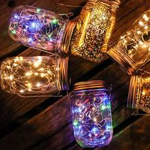 10 светодиодов Ночник светильник s mason jar крышка лампа Декор