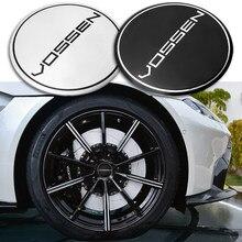4 pçs 56mm liga de alumínio do carro centro roda hub tampas emblema emblema adesivo para vossen decoração do carro acessórios
