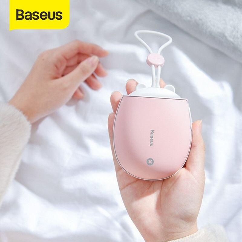 Baseus обогреватель перезаряжаемый ручной обогреватель 4000 мАч аварийный внешний аккумулятор светодиодный Электрический ручной обогреватель...