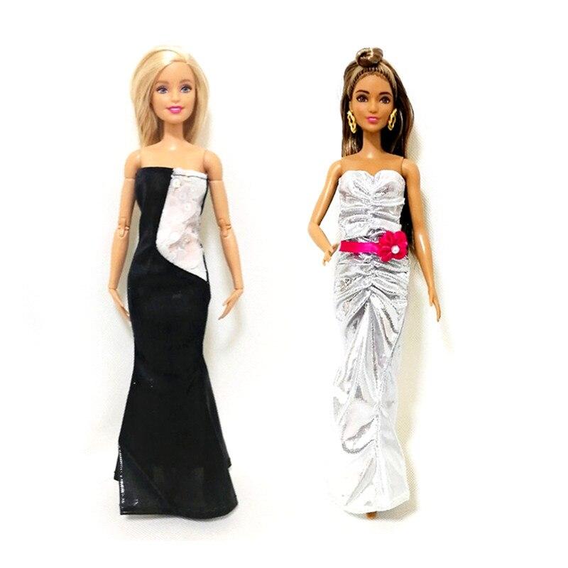 2X//Set Handmade Dolls Party Dress  For Doll Mermaid Tail Dress Kid ToyPB