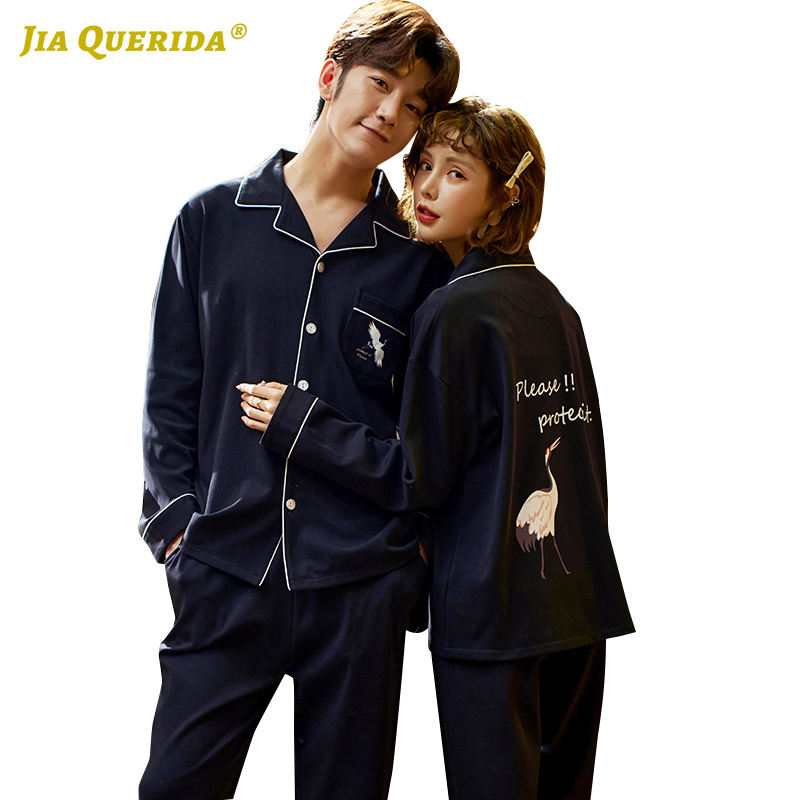 New Pajamas Set Homesuit Homeclothes Long Sleeve Long Pants Fashion Style Buttons Front Pocket Turn Down Collar Sleepwear Pj Set
