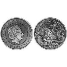 цена на Commemorative Medal Dragon and Phoenix Chengxiang Commemorative Coin Dragon and Phoenix Animal Badge Collection Gift QP2