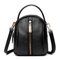 Crossbody delle donne del sacchetto 2019 del nero di modo di cuoio dell'unità di elaborazione del sacchetto del messaggero per le donne mini sacchetto di spalla delle donne per la ragazza