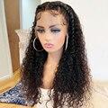 Парики из человеческих волос с кудрявыми кружевами спереди 13x4, парик с глубокой волной спереди, предварительно выщипанные парики на сетке д...