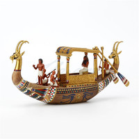 Egypt King Ship Resin Art&Craft Statue Creative Home Living Room TV Cabinet Ancient Egypt Style Art Decorations Figurines X4302