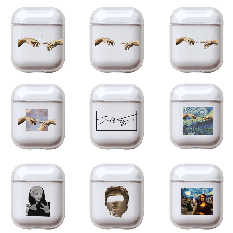 Abstract Art Pattern Phone Case For Apple Airpods 2/1 Cover Cute Cartoon Hard Case For Airpod Earphone Capa For Air Pods Pro Box