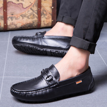 Men's Genuine Leather Boat Shoes Adult Top Brand