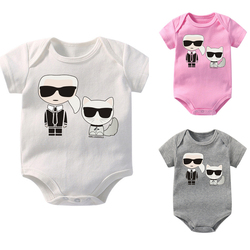 New Fashion Cartoon Printed Baby Boys Girls Jumpsuit Newborn Baby Cotton High Quality Short Sleeved Toddler Soft Infant Romper