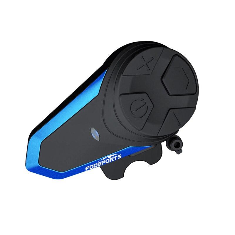 1pc Fodsports BT-S3 Intercom Wireless Bluetooth For Helmets 2 Riders 1000M Motorcycle Helmet Speakers Waterproof Moto Interphone