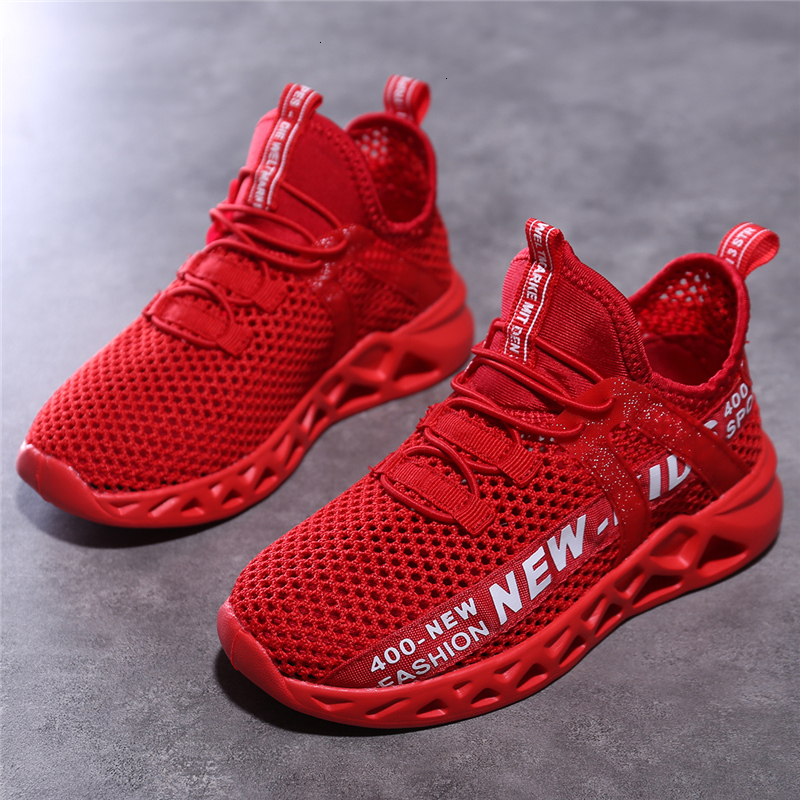 FLARUT Kids Running Shoes Sport Shoes Boys Sneakers Outdoor Light Tenis Basket Footwear Red Black Girl Breathable Soft Shoes
