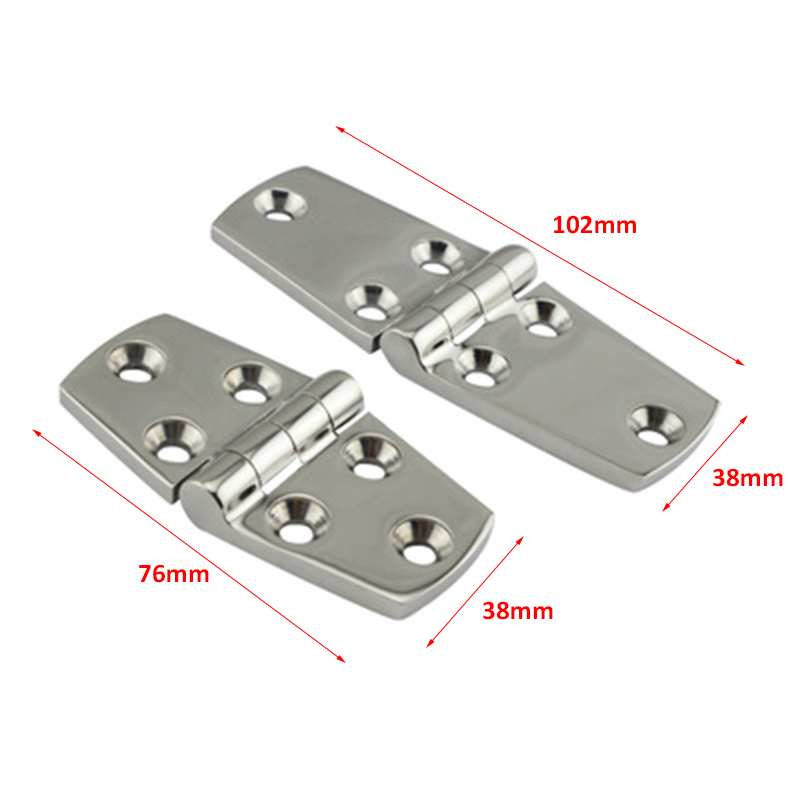 "4Pcs Marine Boat Stainless Steel Strap Hinge 3/"" x 1.5/"" Hinges Door Hardware"